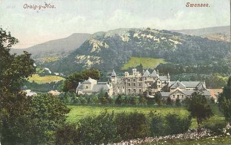 Old Post Card of Craig y Nos Castle 1900