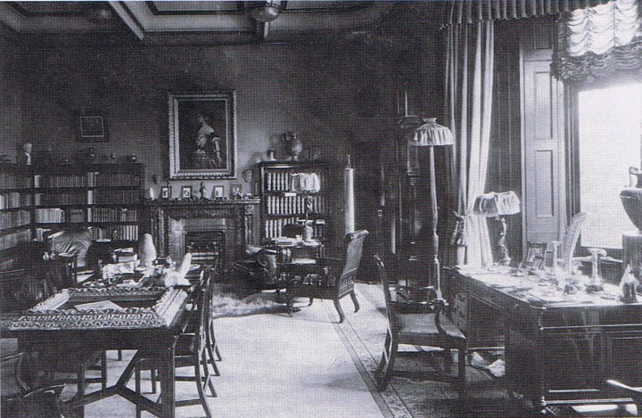 Nicolini Reception room as Study circa 1880