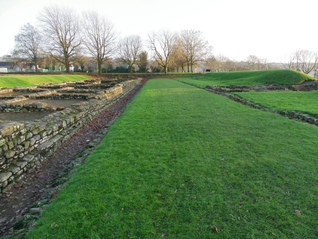 Caerleon Roman Fortress Barracks foundation walls