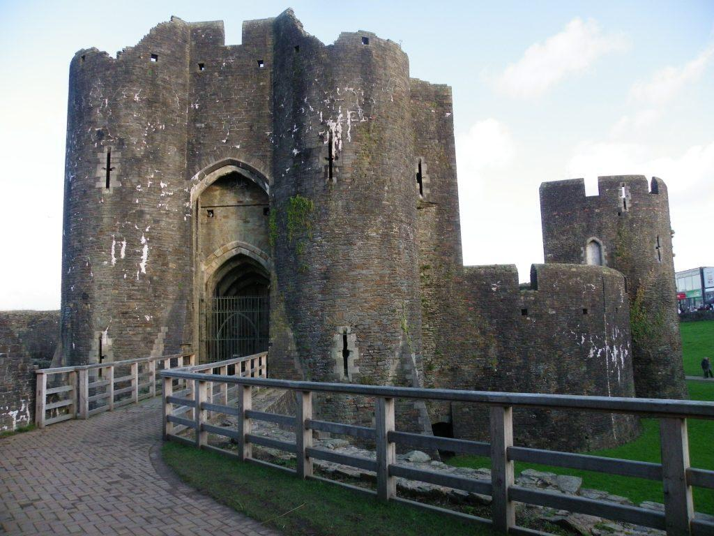Caerphilly Castle main entrance