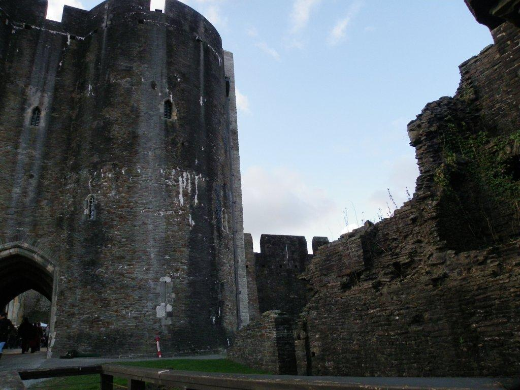 Caerphilly Castle entrance tower