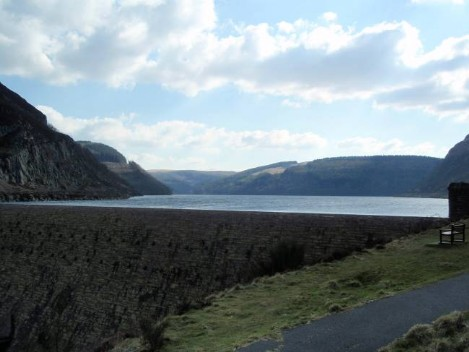 Dog walking Wales -  Elan Village Reservoirs Claerwen Dam