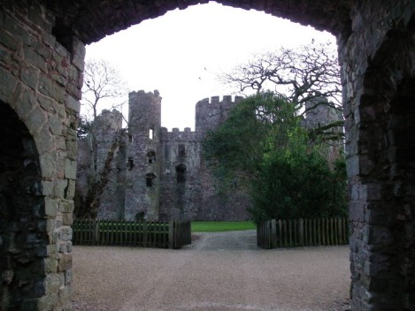 Dog Friendly B&B Wales - Laugharne Castle courtyard and entrance gate