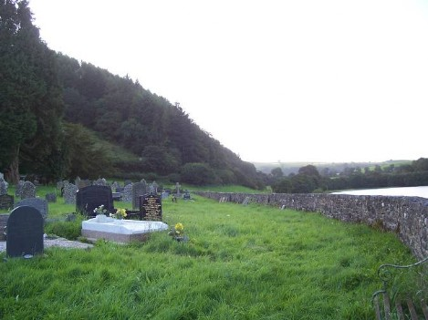 Dog Friendly B&B Wales - a dog's visit to Talley Abbey graveyard