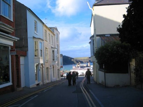 Dog Friendly B&B Wales - a dog's day out in Tenby town centre, road to the beach