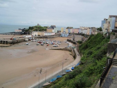 Dog Friendly B&B Wales - a dog's day out in Tenby with sandy bay for dogs to run free
