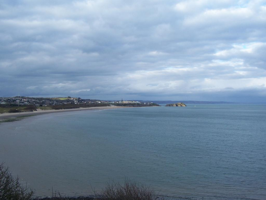 Tenby Bay Dog Walking Beach view of sea