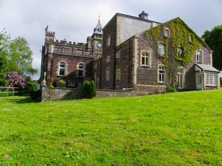 Dog Friendly hotels - Craig y Nos Castle in Wales behind theatre